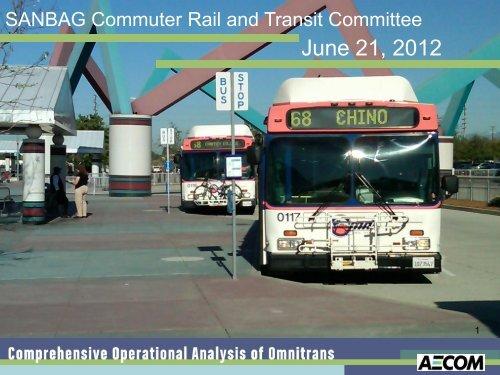 Plans & Programs Committee, COA Update - Omnitrans