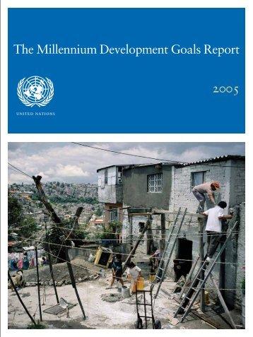 The Millennium Development Goals Report 2005 - United Nations ...