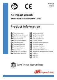 Product Information,Air Impact Wrench,2145QiMAX ... - Ingersoll Rand