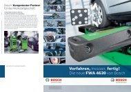 Vorfahren, messen, fertig! Die neue FWA 4630 von Bosch
