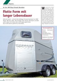 Flotte Form mit  langer Lebensdauer -  WM Meyer