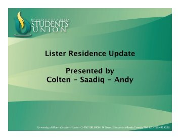 Lister Changes Update.pdf - University of Alberta Students' Union