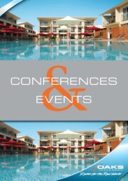 Conference Pack MASTER Nov11 - Oaks Hotels & Resorts