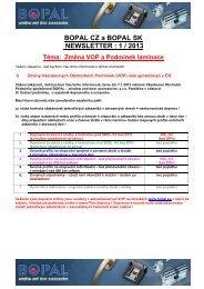 1 / 2013 - Změna VOP a Podmínek laminace - Bopal.eu