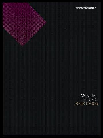 ANNUAL REPORT 2008 | 2009 - SinnerSchrader AG