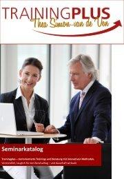 Seminarkatalog - Trainingplus - Thea Simon-van de Ven