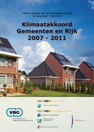 Klimaatakkoord Gemeenten en Rijk 2007 - 2011 - Milieuzorg ...