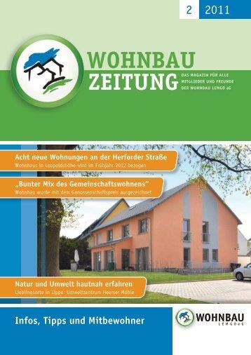 Wohnbau-Zeitung 2/2011 - Wohnbau Lemgo eG