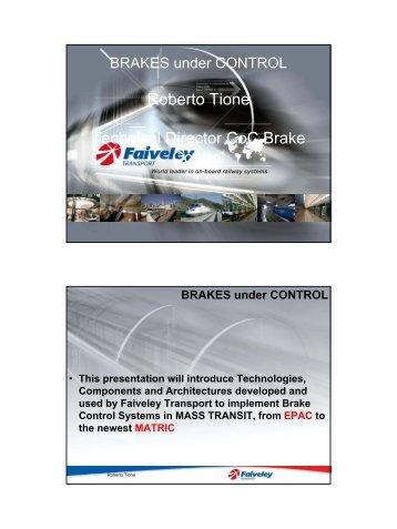Roberto Tione, Faiveley Transport - Unife