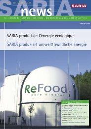 SARIA produziert umweltfreundliche Energie SARIA produit de l ...