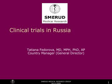 Clinical trials in Russia - Biotekforum