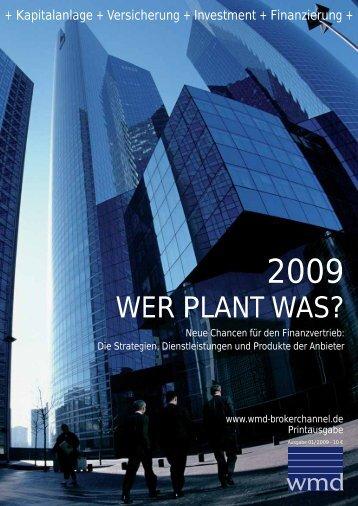 WER PLANT WAS? - WMD Verlag GmbH