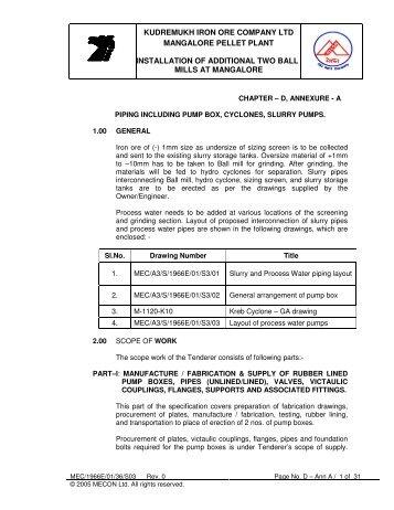kudremukh iron ore company ltd mangalore pellet plant - kiocl limited