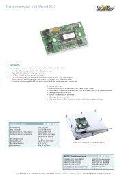 Tastaturcontroller für USB und PS/2 - Wirth Elektronik GmbH