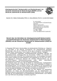 Bericht über die Aktivitäten der Arbeitsgemeinschaft Nuklearmedizin ...