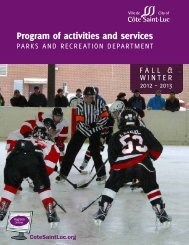 Program of activities and services 2012-2013 Fall/Winter