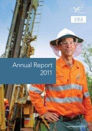 Annual Report 2011 - Energy Resources of Australia Ltd.