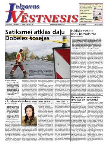 2009.gada 15.oktobris. Nr.40(124) - Jelgavas Vēstnesis