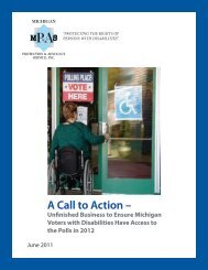A Call to Action – - Michigan Protection & Advocacy Service, Inc.