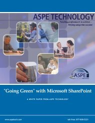 Utilizing SharePoint to Automate a Paperless Office - ASPE