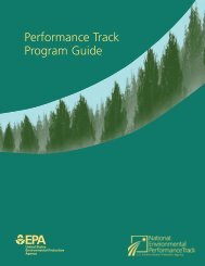 Performance Track Program Guide - epeat