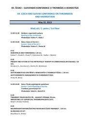 xx. česko – slovenská konference o trombóze a hemostáze xx ...