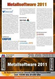 Metall aktuell 09 / 2011 - metallsoftware-nrw.de
