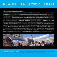 newsletter 01/2012 - Era21