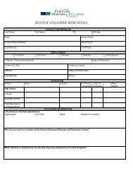Application - Illinois Holocaust Museum & Education Center
