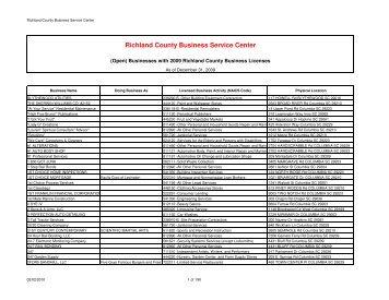 Report - IQ 2009 BL - 2010-02-02 - Richland County