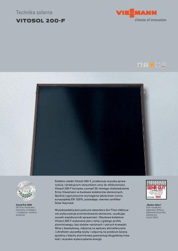 Technika solarna VITOSOL 200-F