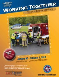 2013 Conference Brochure - Wisconsin EMS Association