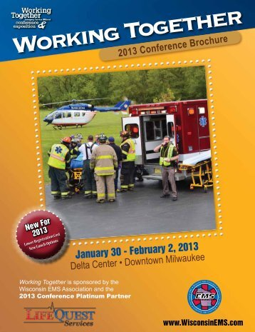 2013 Conference Brochure - Wisconsin EMS Association