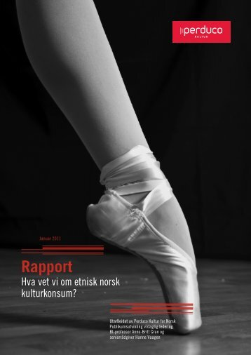 """""""Hva vet vi om etnisk norsk kulturkonsum?"""" (pdf)"""