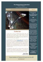DBF - January 2011 Newsletter - The Dispute Board Federation