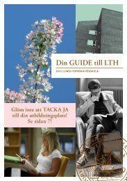 Din GUIDE till LTH - Student LTH - Lunds Tekniska Högskola