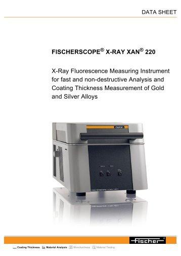 fischerscope ® x-ray xan ® 220 - Labsys