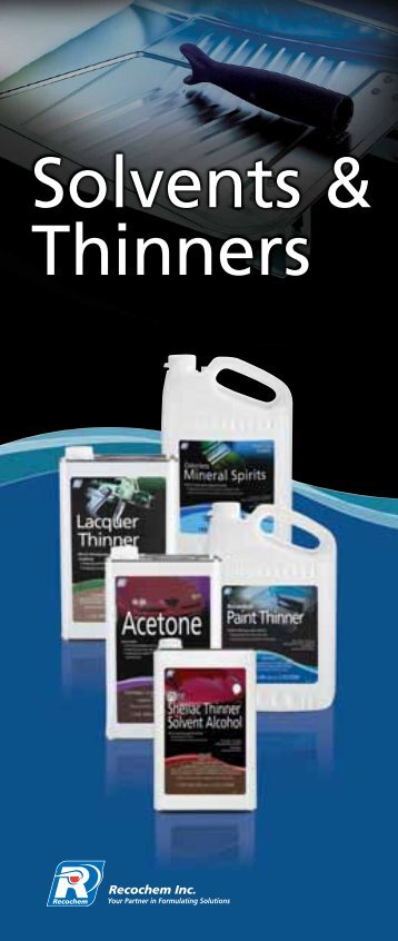 Solvents and Thinners Brochure