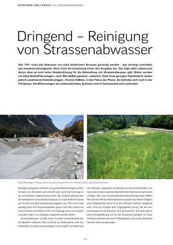 Dringend – Reinigung von Strassenabwasser - Basler & Hofmann