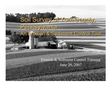 Soil Survey of York County, Pennsylvania