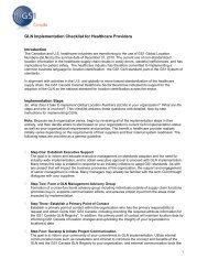 GLN Implementation Checklist for Healthcare Providers - GS1 Canada