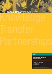 Annual Report - Knowledge Transfer Partnerships