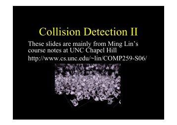 Collision Detection II