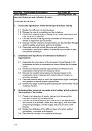 Unit Title: The Business Environment Unit Code: BE Level: Diploma ...