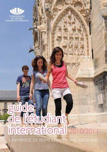 guide de l'étudiant international 2010/2011 - Université de Reims ...