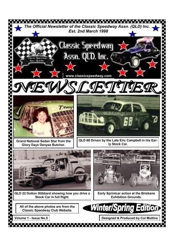 CSAQ Newsletter August 2012 - Classic Speedway Assn QLD