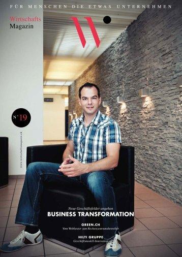 BUSINESS TRANSFORMATION - Wirtschaftsmagazin