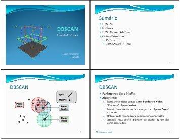 Sumário DBSCAN DBSCAN - USP