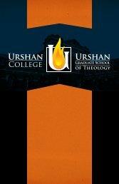 Download Donor Book - Urshan Graduate School of Theology