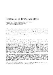Semantics of Broadcast MSCs - Software and Systems Engineering ...